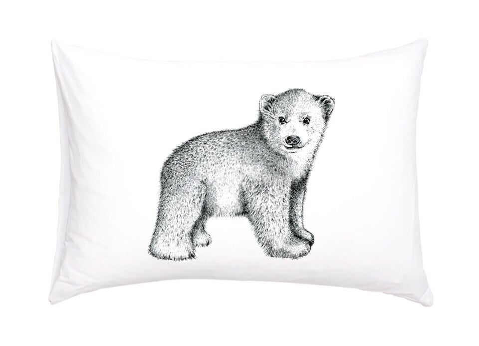 Image of Polar Bear Cub Pillowcase