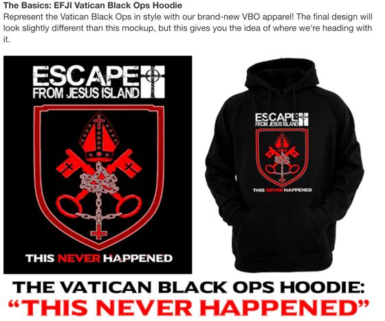 Image of Pre-order: Vatican Black Ops hoodie