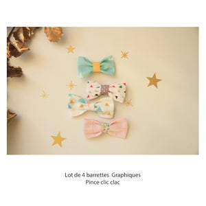Image of Lot de 4 barrettes
