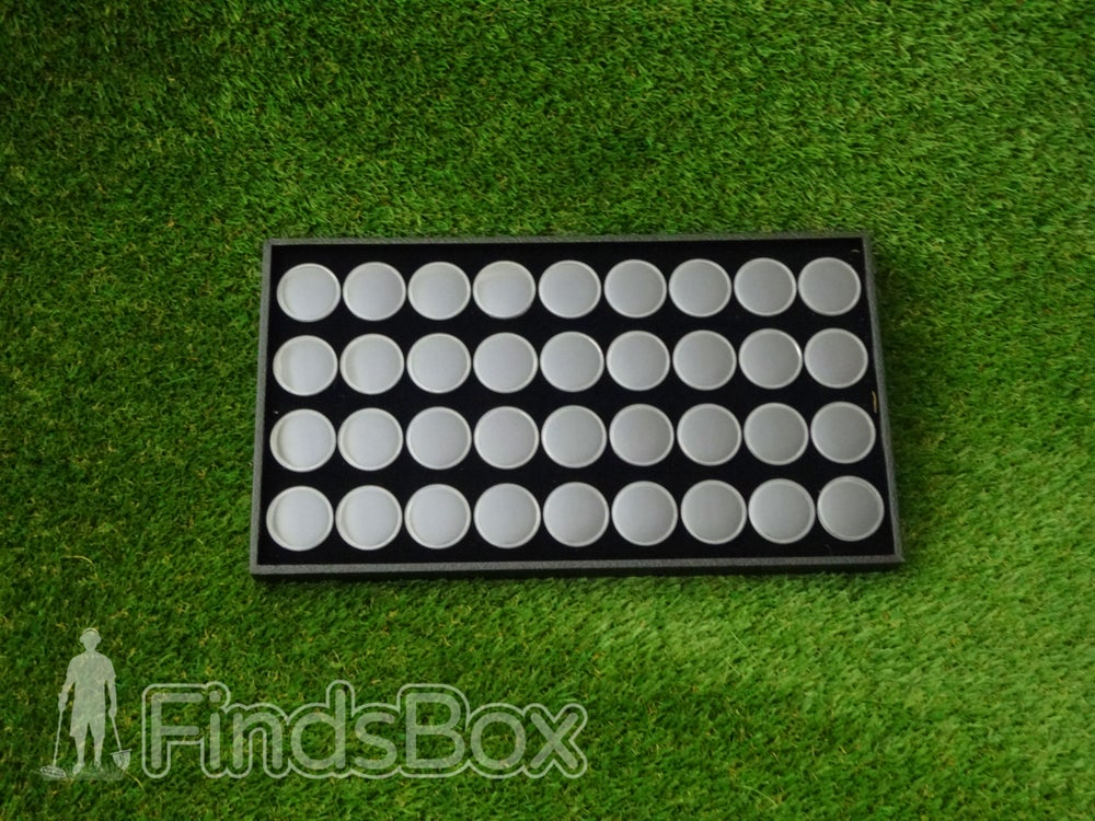 Image of Metal Detecting Present Finds Storage - 36 Capsule Display Tray