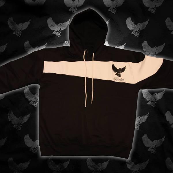 Image of Black/White Cut & Sew Hoodie