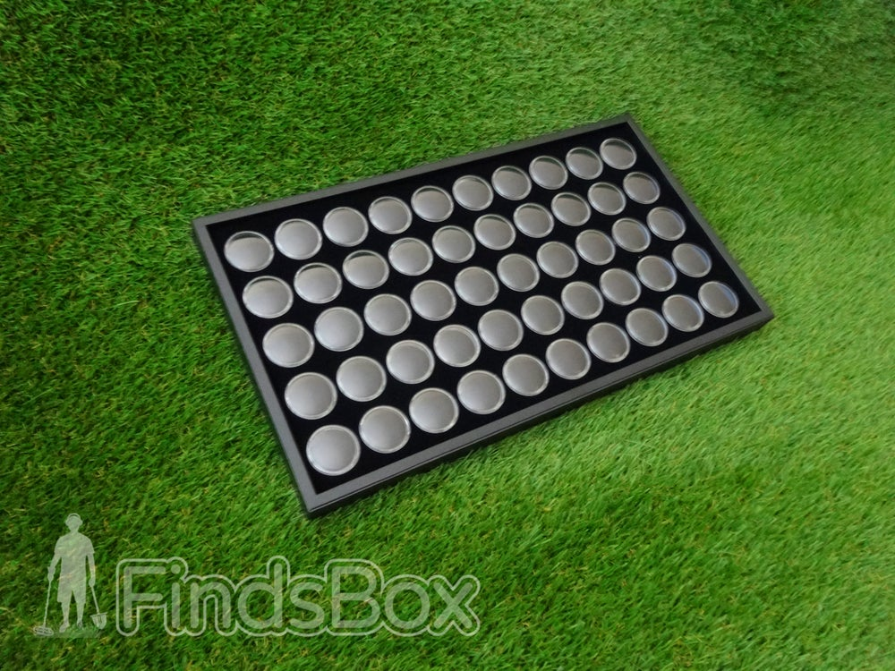Image of Metal Detecting Finds Display - 50 Capsule Display Tray