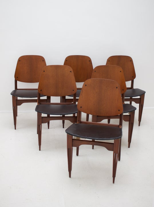 Italian Dining Chairs With Carved Legs 1950s Matt Mitchell