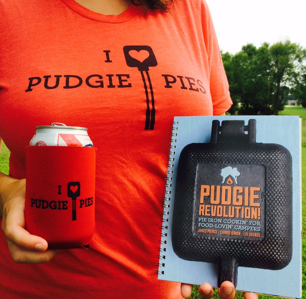Image of Pudgie Gift Pack: cookbook + t-shirt + coozie