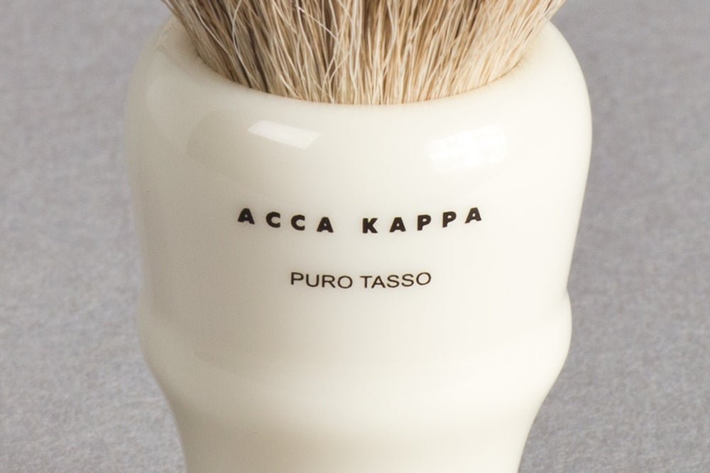 Image of PENNELLO DA BARBA IN PURO TASSO ARGENTATO / SILVERTIP SHAVING BRUSH