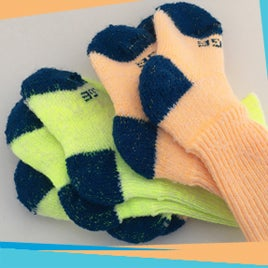 Image of Kids Gumboot Sock - 2 Pairs - Fluro's & Brights