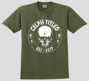 Image of Celph Titled Skull Logo T-Shirt - Military Green