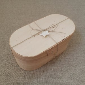 Image of Coffret bois ovale petit
