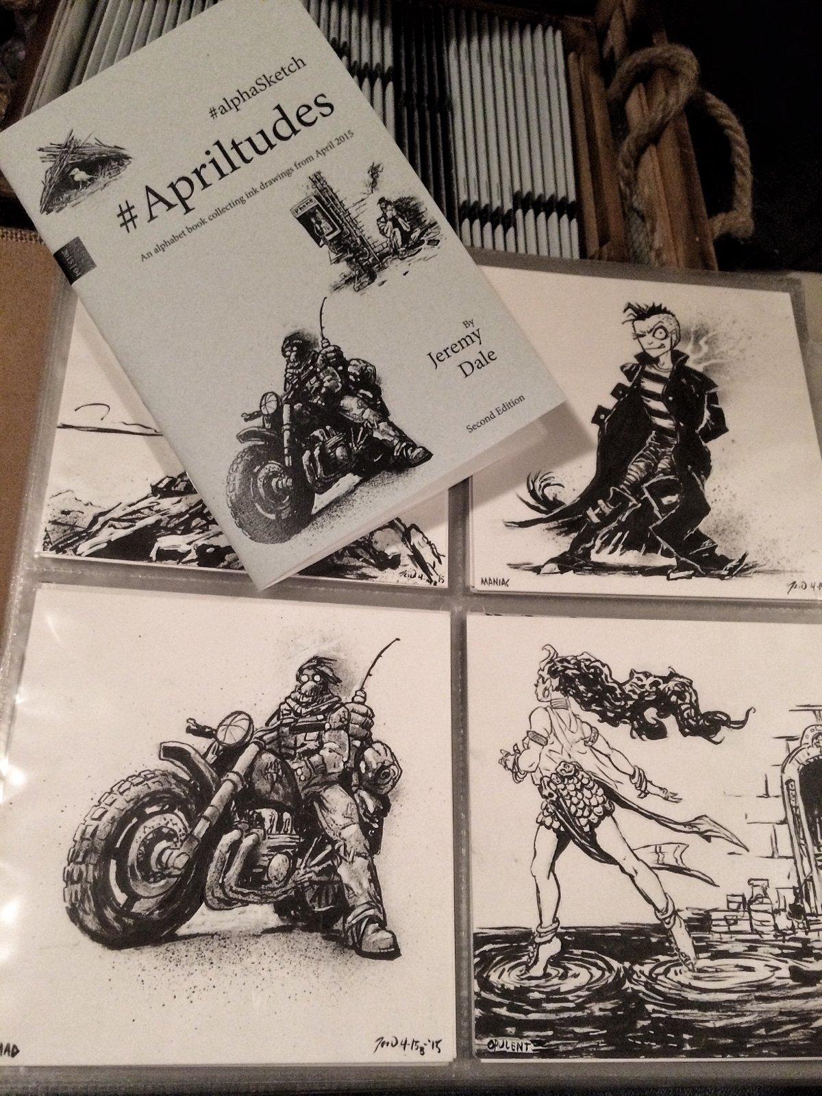 Apriltudes #alphaSketch Books/Originals