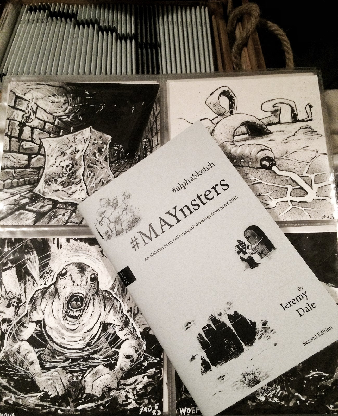Maynsters #alphaSketch Books/Originals