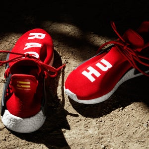 Image of Adidas Mens PW Human Race NMD Scarlet/White BB0616