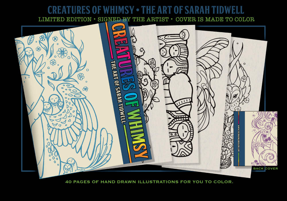 Image of 'Creatures of Whimsy' Coloring Book