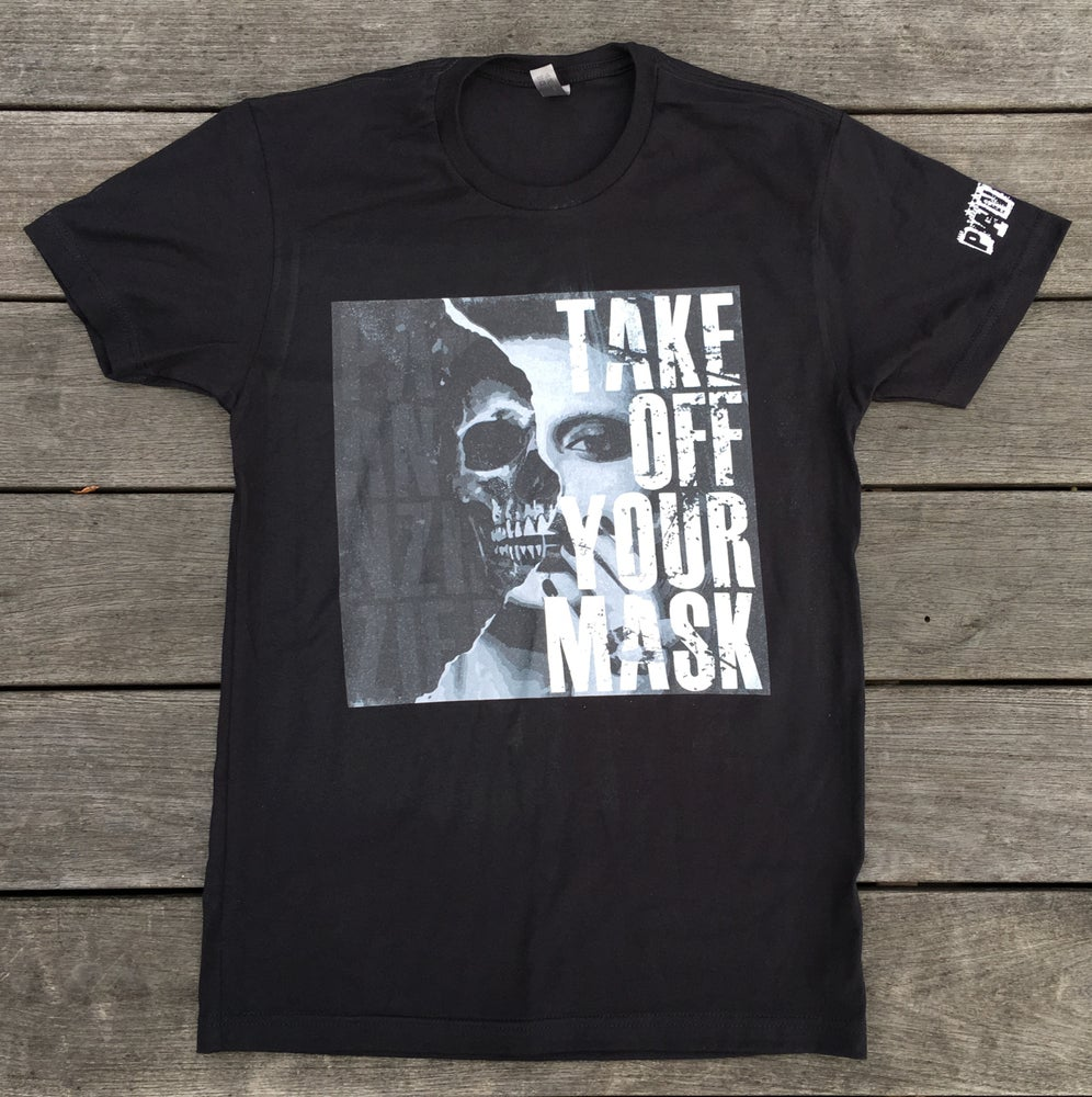 "Image of MEN'S S/S TEE "" TAKE OFF YOUR MASK"""