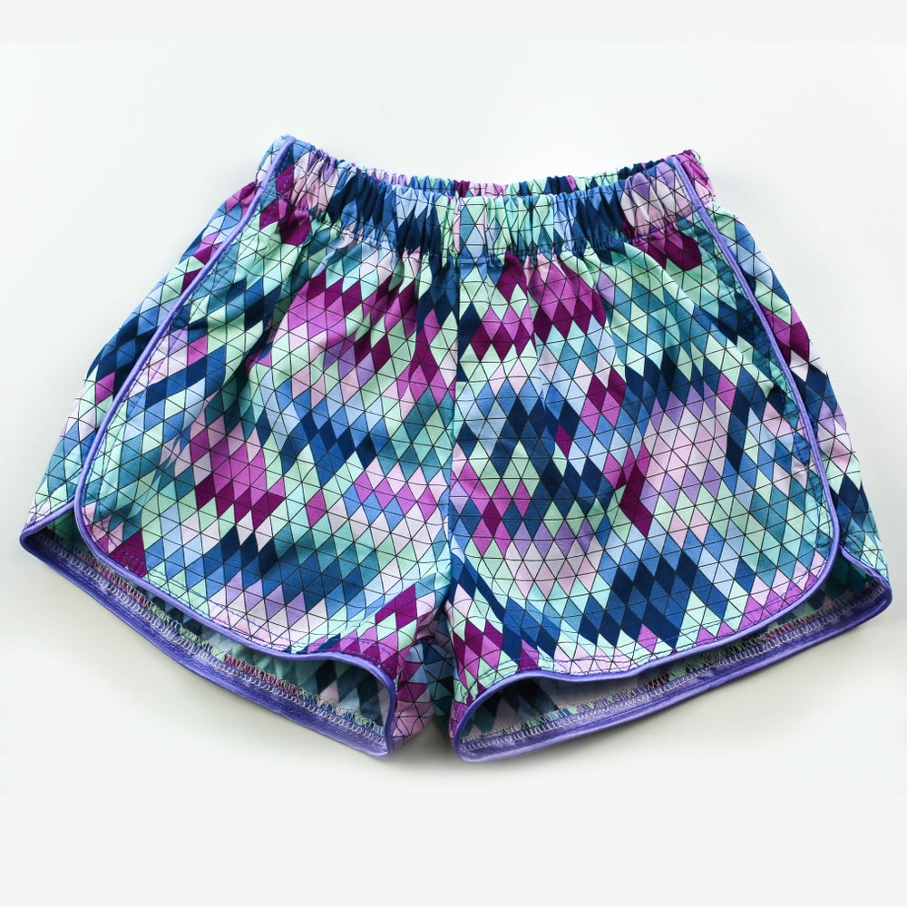 Image of Little Traveller Shorts - Inka Carnival Aqua