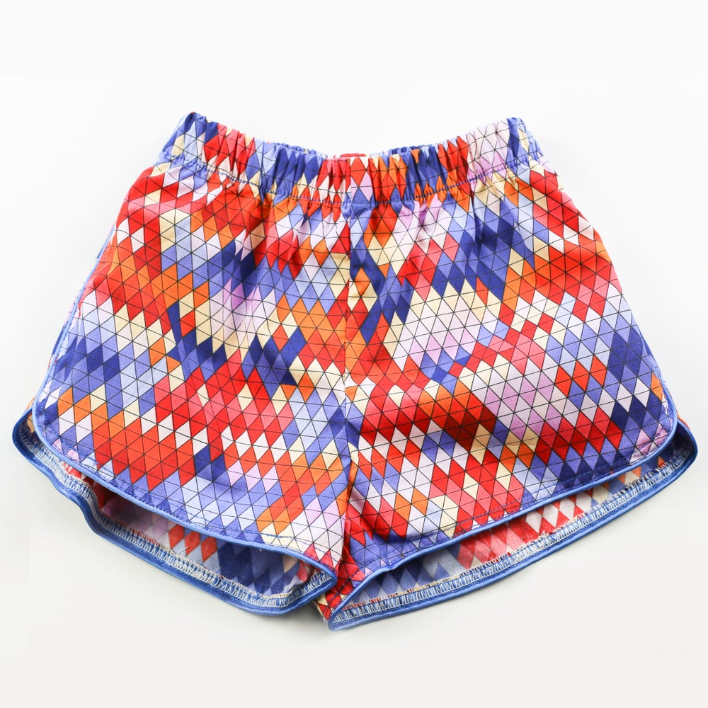 Image of Little Traveller Shorts - Inka Carnival Chilli