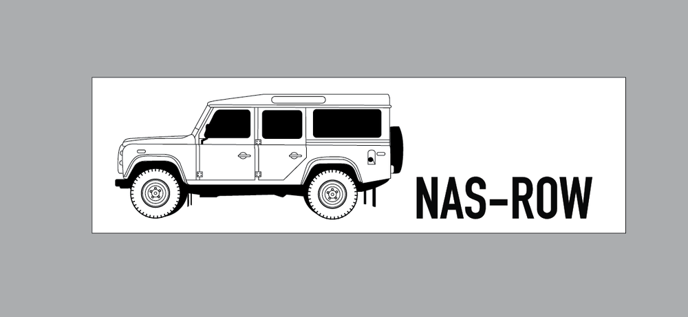 Image of NAS ROW Long Bumper Sticker