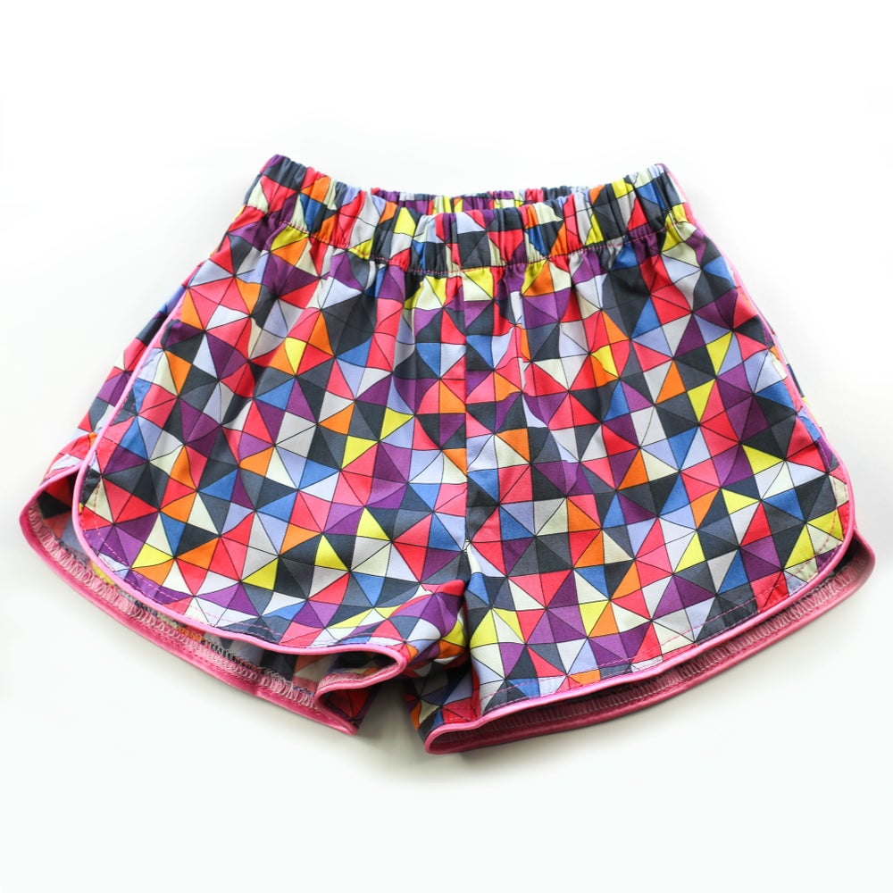 Image of Little Traveller Shorts - Inka Harlequin