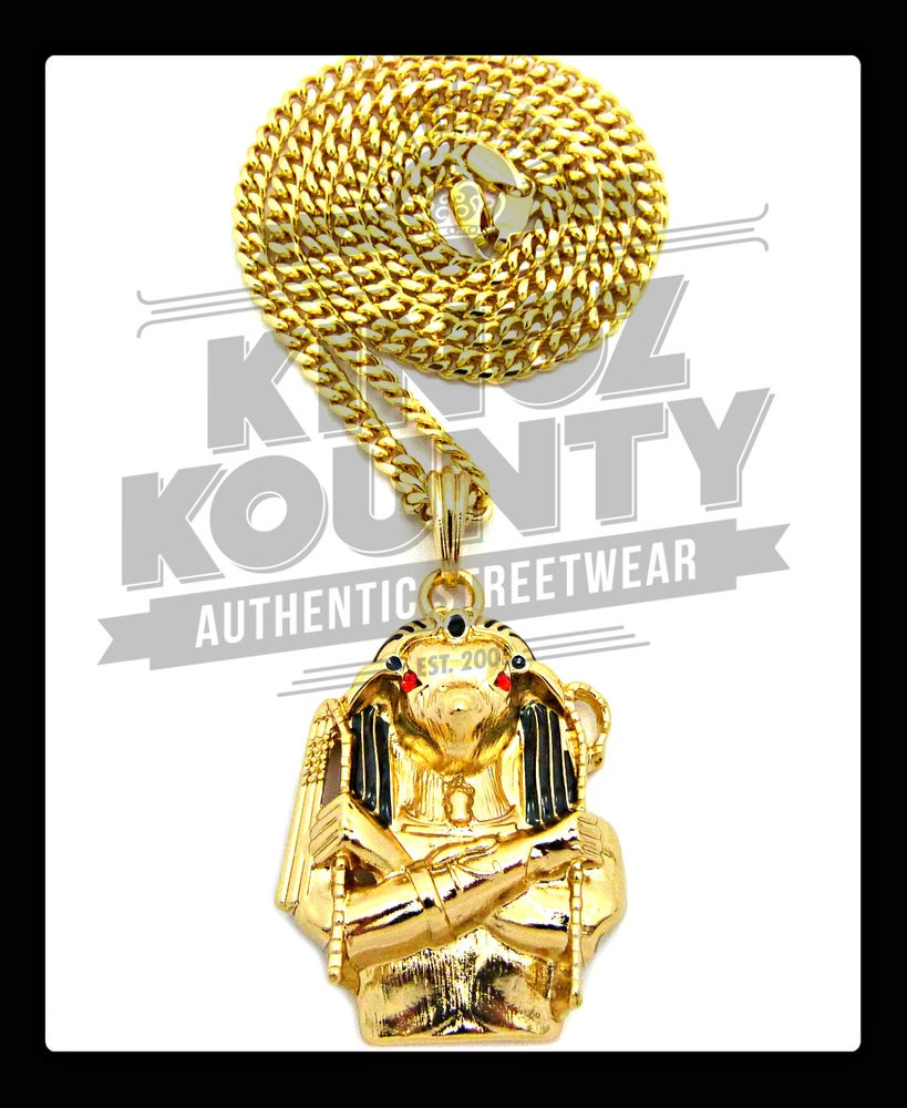 Image of GOLD HERU-KHUTI w/ BOX CHAINS