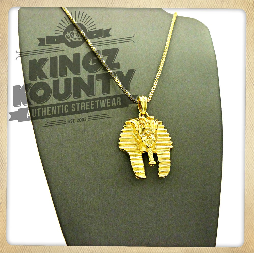 Image of GOLD KING TUT w/ BOX CHAIN