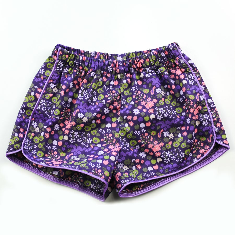 Image of Little Traveller Shorts - Flora Indigo