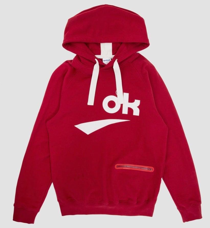 Image of Reebok X Garbstore OK 3M Hoody Red