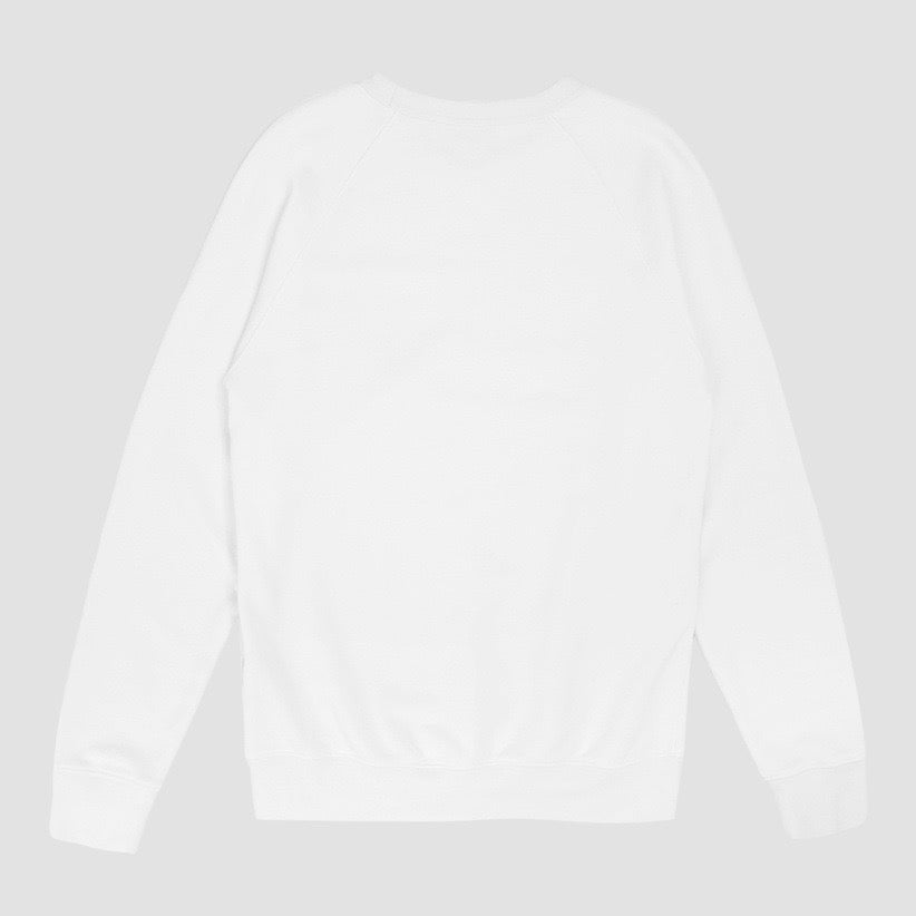 Image of Reebok X Garbstore OK Crew Neck Sweatshirt White & Blue
