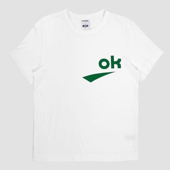 Image of Reebok X Garbstore OK T-Shirt 3M Green
