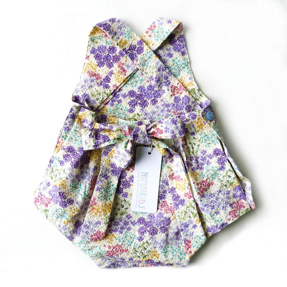 Image of Vintage Bambini Playsuit - Seersucker Lavender