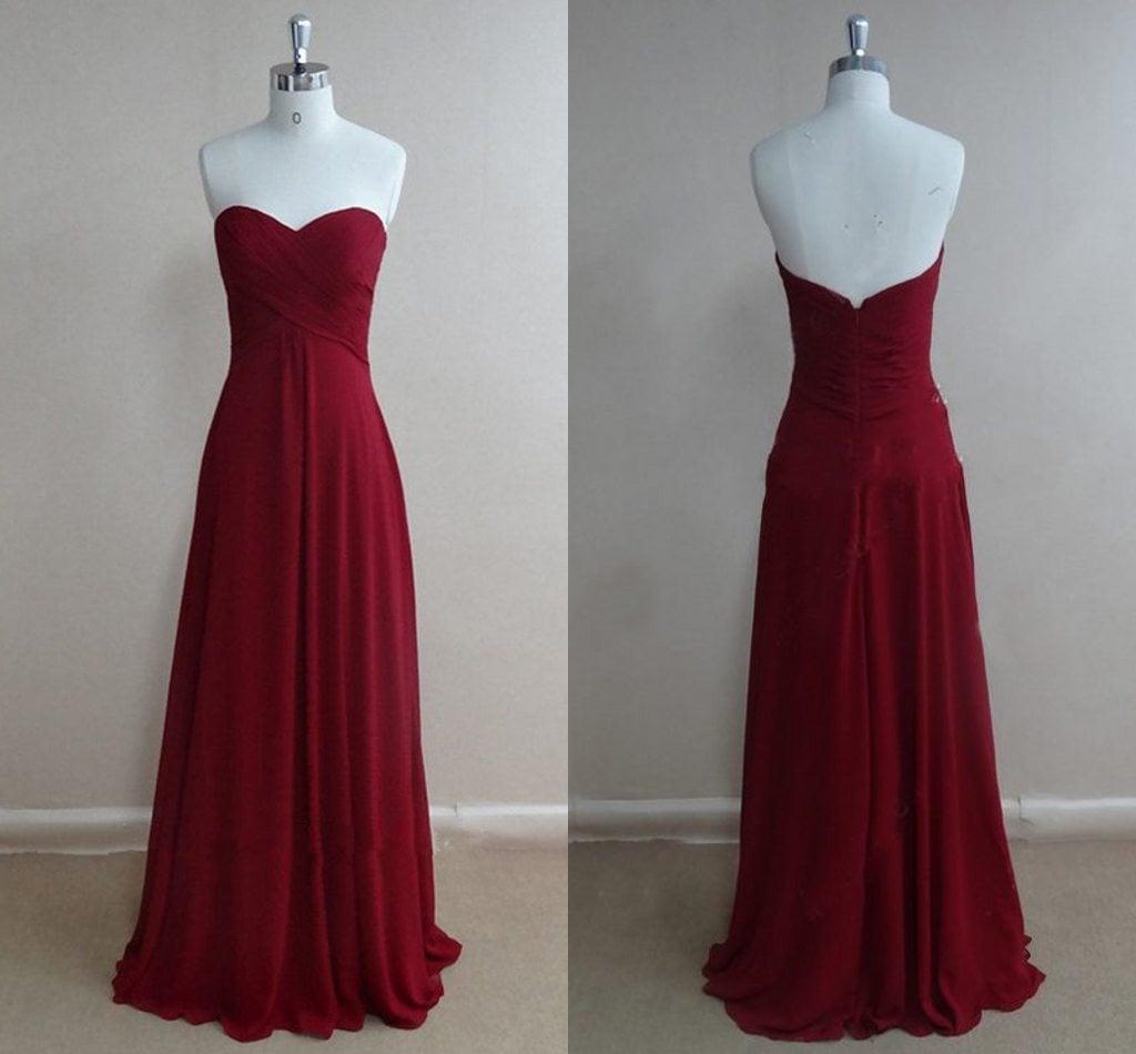 Gray Sweetheart Prom Dresses