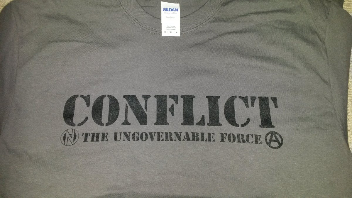 Image of Conflict Ungovernable Force Grey Shirt