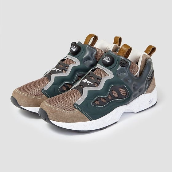 Image of Reebok X Garbstore Insta Pump Fury Road Forest Green