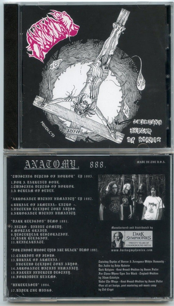 "Image of ANATOMY - ""TWISTING DEPTHS OF HORROR "" DISCOG CD 1990 -1994 OUT NOW !!"