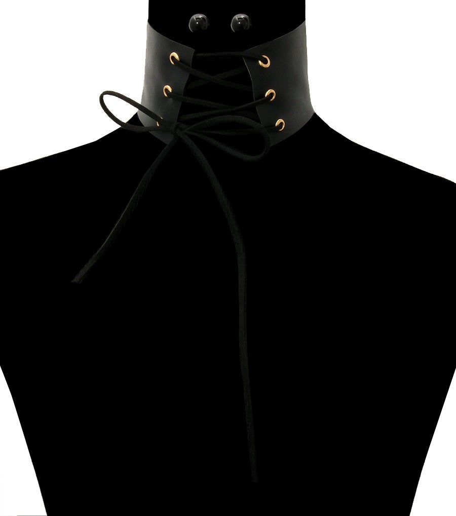 Image of Leather Corset Choker