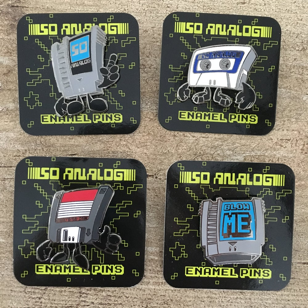 Image of So Analog Enamel Pins