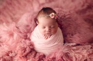 Image of Candy Pink knit ruffle Wrap/Layer