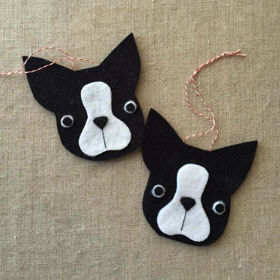 Image of boston terrier ornament (made to order)