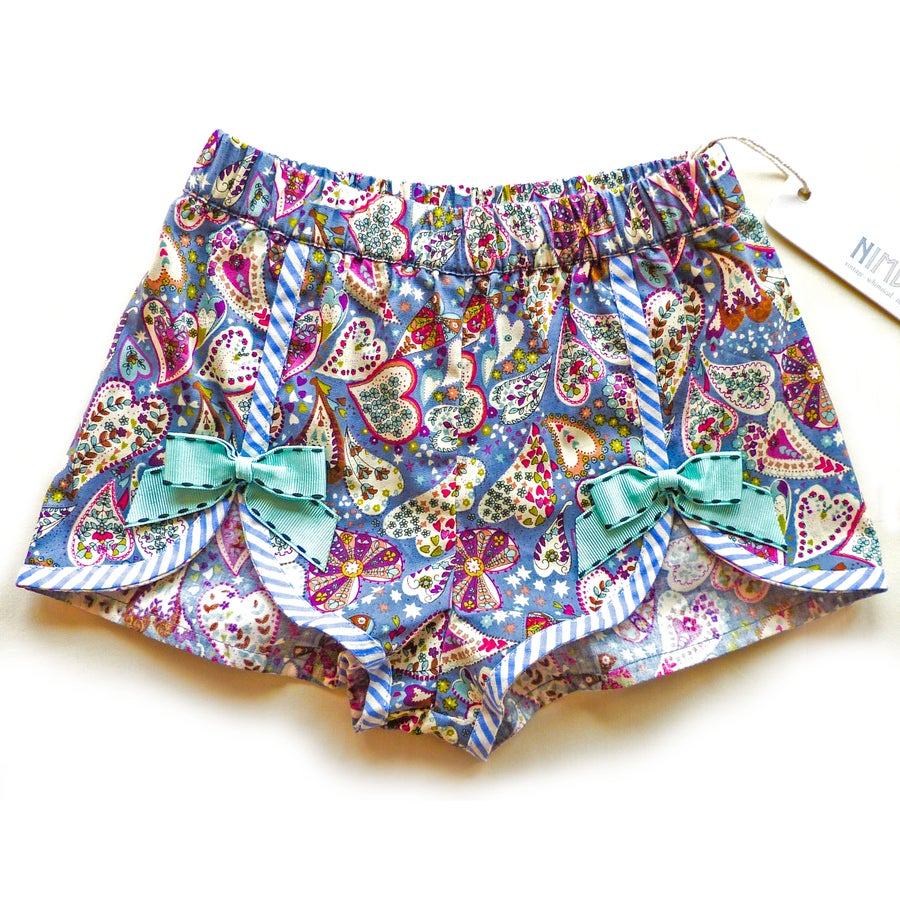 Image of Polly Vintage Bow Shorts - Paisley Haze