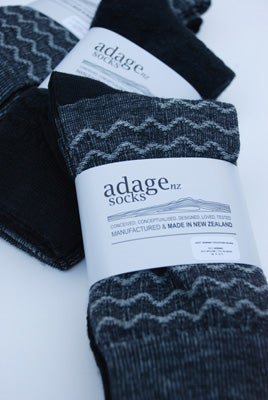 Image of Soft Merino Blend Dress Socks - 2pair pack - Waves
