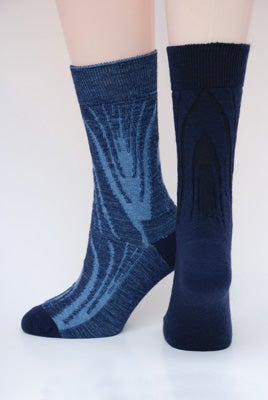 Image of Soft Merino Blend Dress Socks - 2pair pack - Geometric Botanical