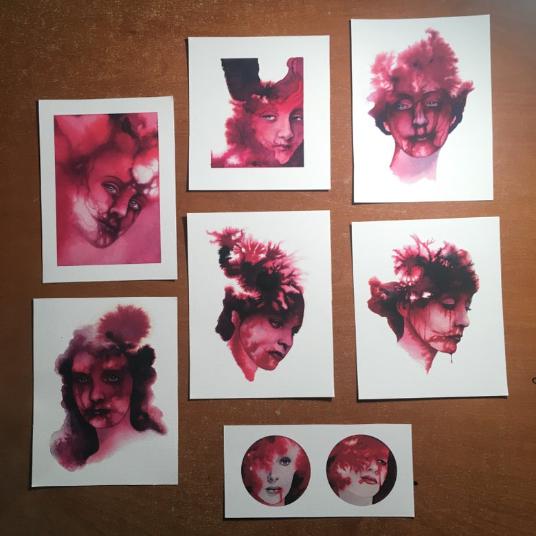 Image of Blood lady print set