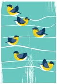 Image of Birds Of A Feather Canada Warbler Silkscreen Print - BirdSafe PGH