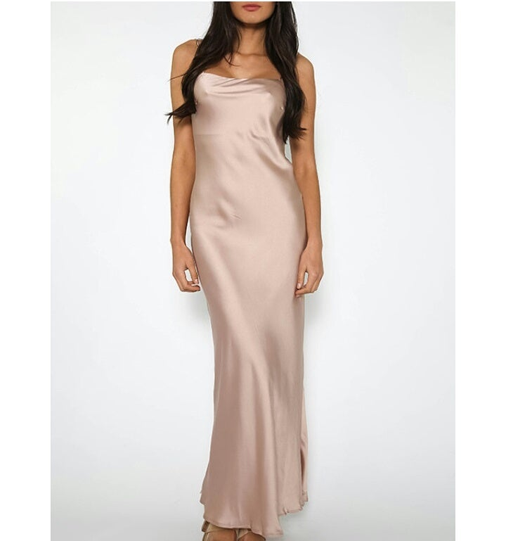 Image of Suzanne Satin Dress
