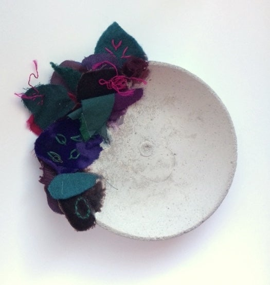 Image of Jewel - small cloth and concrete bowl