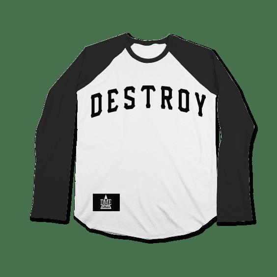 Image of DESTROY BASEBALL TEE