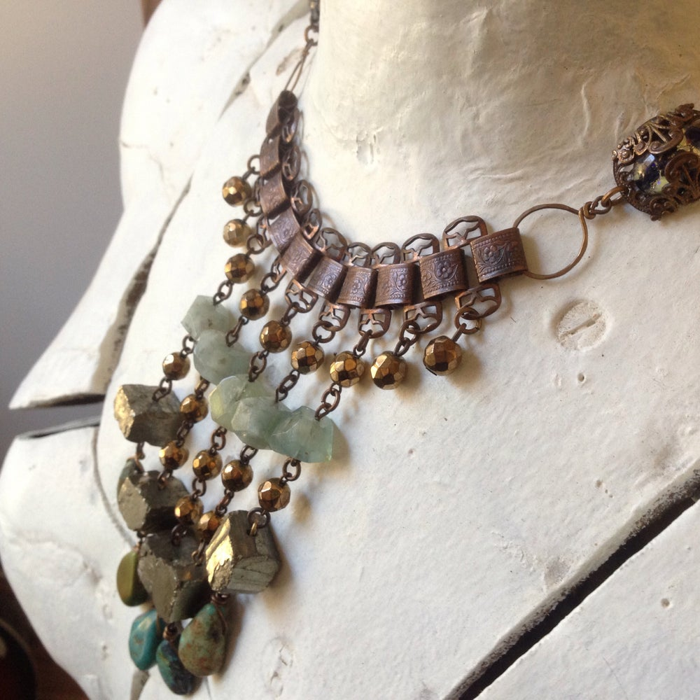 Image of Fools Gold Bib Necklace