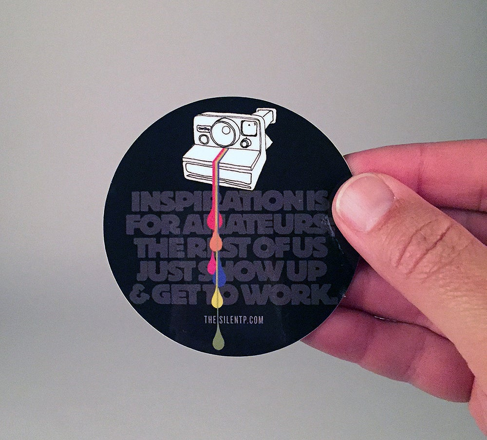 Polaroid Quote Vinyl Sticker