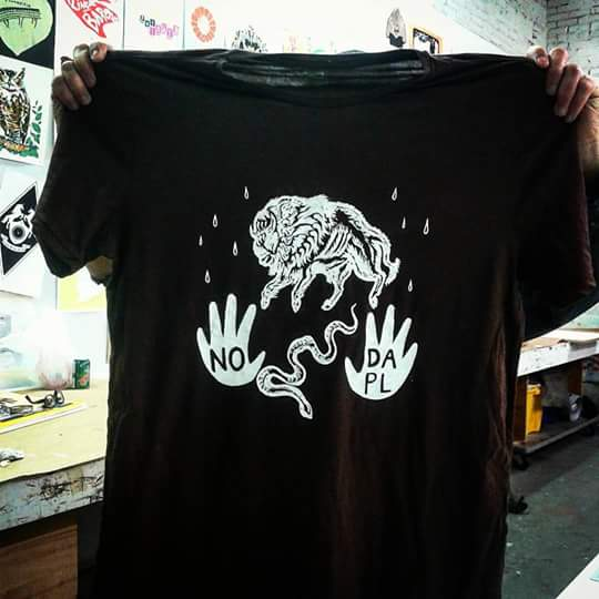 """Image of """"No Dapl""""  T-shirt, XL only"""