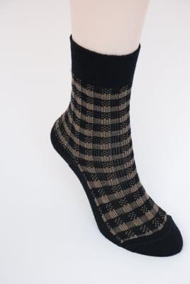 Image of Soft Merino Blend Dress Socks  - Plaid