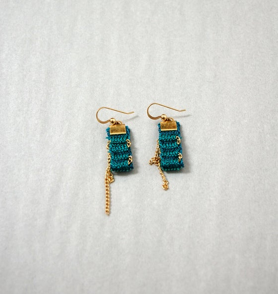 Image of Jewel Colours One Pixel Earrings