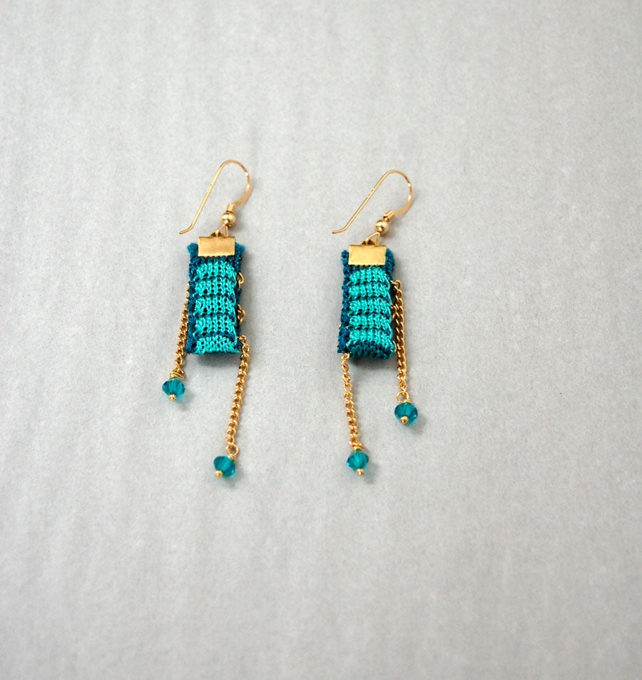 gojane a e not faux com jewel earrings tassel bluegold